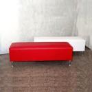 Puff rectangular con base de aluminio